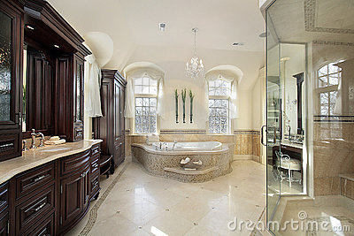 Large master bath royalty free stock images image 12662549 for Large master bathroom
