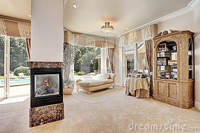 Large Master Bedroom Interior In Luxury Home With Sitting Room Stock Photo Image 77539941
