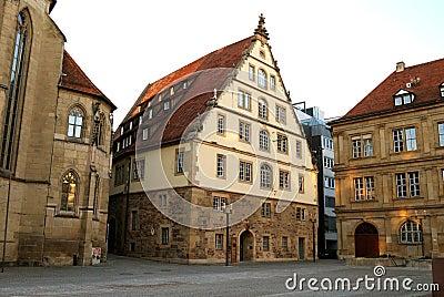 Large medieval house in the center of Stuttgart