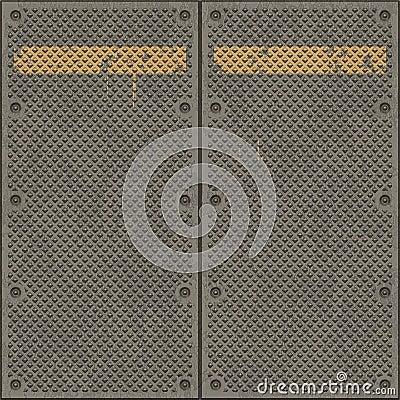 Free Large Metal Plates Rusty Stock Image - 7212901