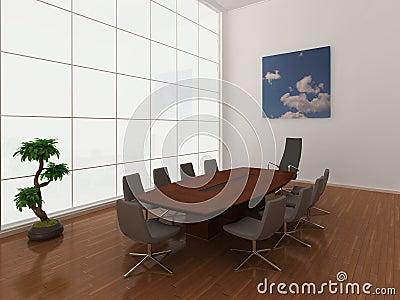 Large, modern boardroom