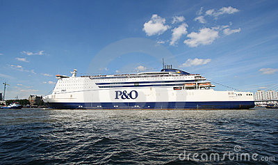 Large Northsea Ferry Editorial Stock Image