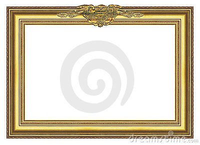 antique gold frame covered with a patina large size comfortable proportions