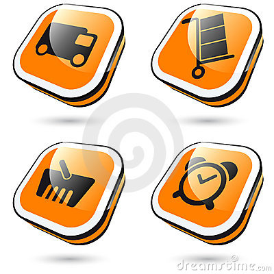 Large orange icons
