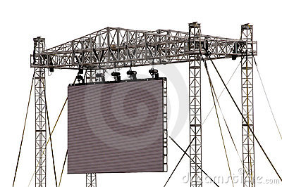 Large Outdoor Screen Isolated