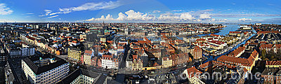 Large panorama of Copenhagen