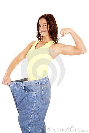 Large pants showing muscles