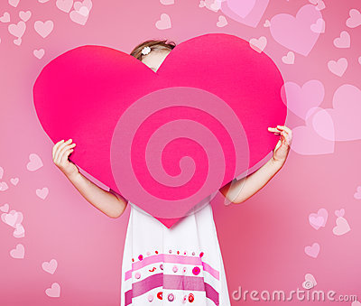 Large paper heart