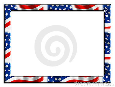 Blue and red patriotic stars and stripes page border frame design - Large Patriotic Frame Border Royalty Free Stock Photos