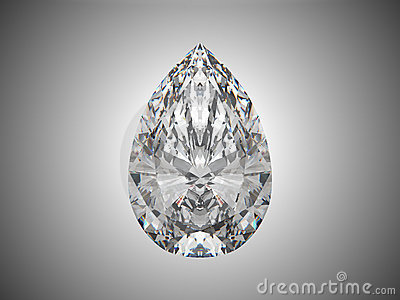 Large pear cut diamond
