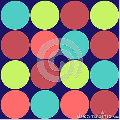 Large Polka Dots Background