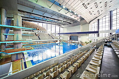 Large pool in sporting complex