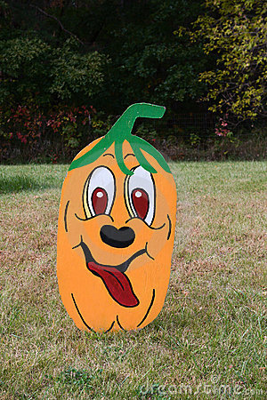 Large Pumpkin Yard Decoration