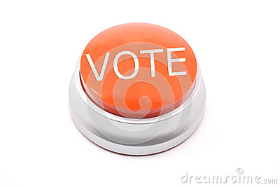 Large red VOTE button