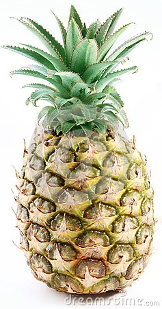 Large ripe pineapple.