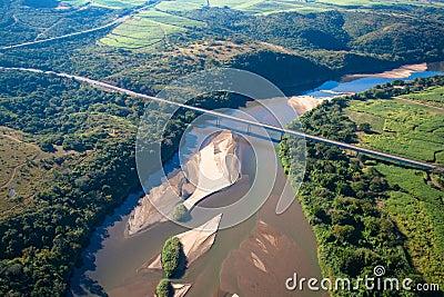 Large River Bridge AirPhoto