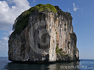 Large rock off Phi Phi Leh (Thailand - Asia)