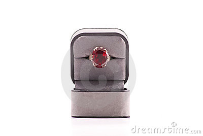 Large Ruby Stoned Ring