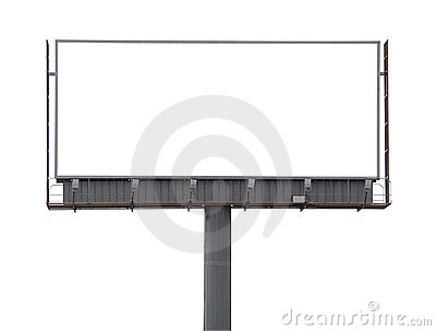 Large rusty billboard