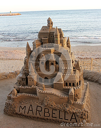 Large sandcastle in spain