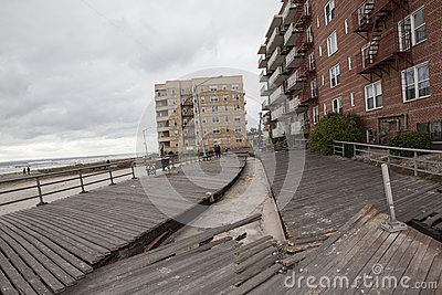 Large section of the iconic boardwalk was Editorial Photo