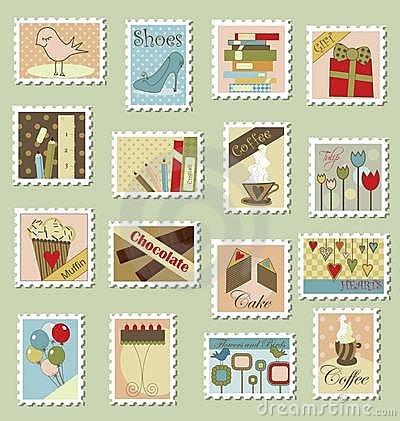Free Large Set Of Postage Stamps Royalty Free Stock Photography - 15146517