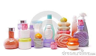 Large set of various cosmetics