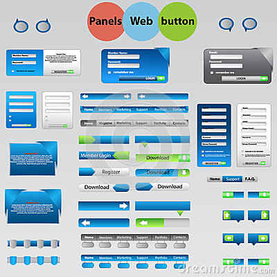 Large set of web panels, buttons for your ideas.