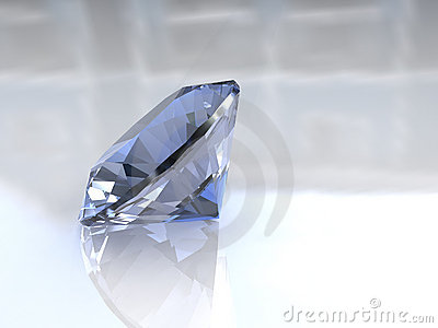 Large sky blue euro cut diamond