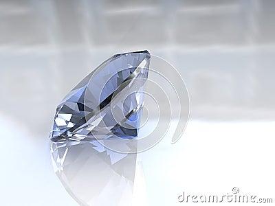 Large sky blue euro cut diamond