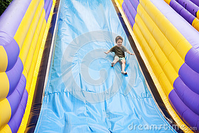 Large slide playground