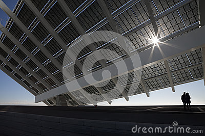 Large solar panels with couple