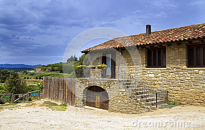 Large stone house, in the valleys of Catalonia