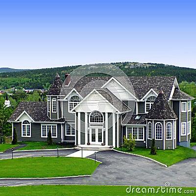 Large Suburban House Royalty Free Stock Photos Image