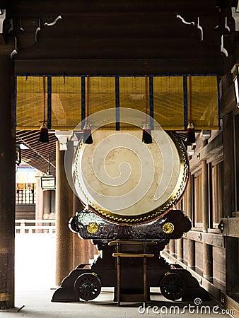 Large taiko drum