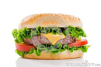 Large tasty hamburger