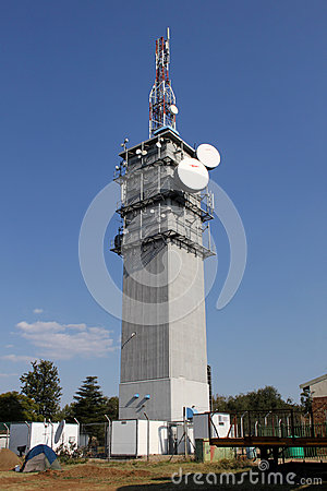 Large Telecommunications Tower