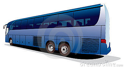 Large tourist s bus