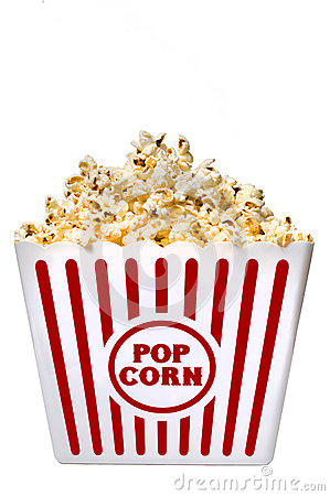 Free Large Tub Of Delicious Buttery Popcorn Stock Photography - 33013072
