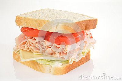 Large turkey sandwich