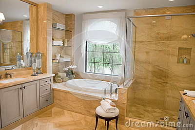 Large Upscale Master Bathroom