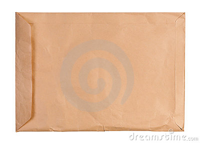 Large used envelope isolated.
