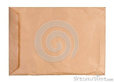 Large used envelope isolated.