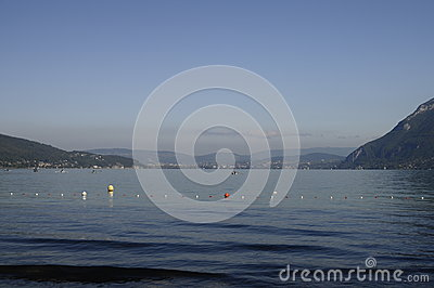 Large view of Annecy lake