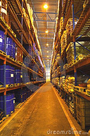 Large Warehouse Shelves