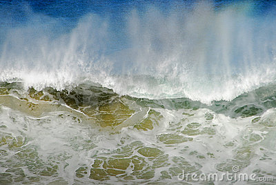 Large Wave Splashing Water