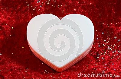 Large white blank valentine