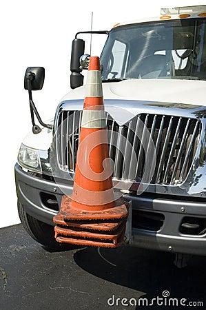 Large work truck vehicle