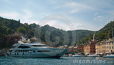 Large Yacht in Portofino, Italy