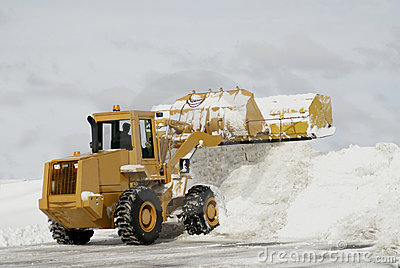 Large Yellow Snow Plow 3